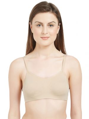 Buy Soie Women's Non-padded Non-wired Beginners Bra (code - Bb-04nude) online