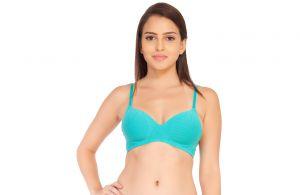 Buy Soie Blue Curacao Cotton / Spandex Bra For Women (code - Cb-106blue_curacao) online
