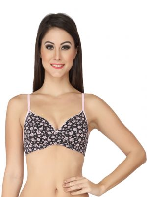 Buy Soie Multicolor Organic Cotton Spandex Bra For Women (code - Cb-110p-1_(co-2)) online