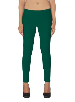 Buy Soie White Solid Leggings_R.Green online