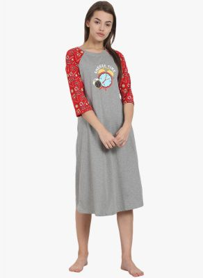 Buy Soie Womens Cotton Jersey Sleepshirt - (code - Nt-46snooze Aop) online