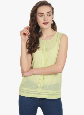 Buy Soie Womens Light Green Polyester Top - (code - 6743(i)l.green) online