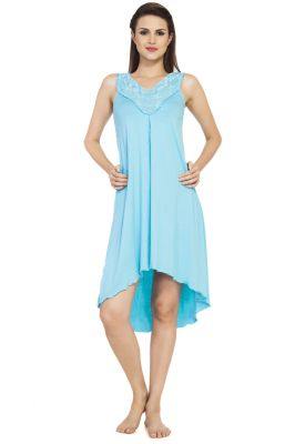 Buy Soie Aqua Spandex Sleepwear For Women online
