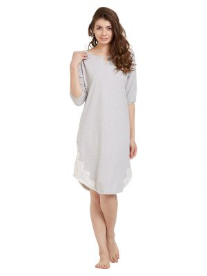 Buy Soie Women'S Crochet Lace Sleepshirt online