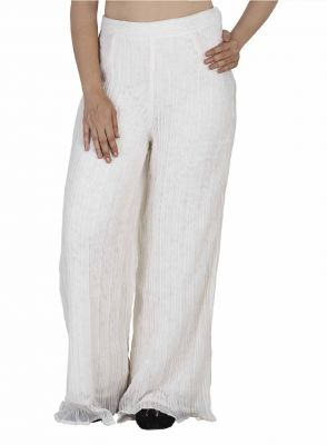 Buy Soie Palazzo Pants Embroidered Net Combined, Pre online