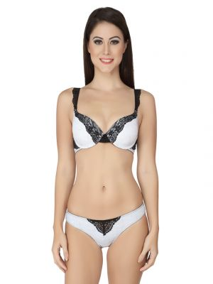 Buy Soie Mesh Coloured Wired Padded Bra And Matching Panty (code - Set 517+1517mesh) online