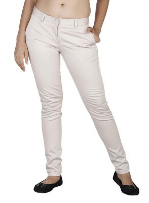 Buy Soie Mid-Waist Slim Fit Basic Trousers online
