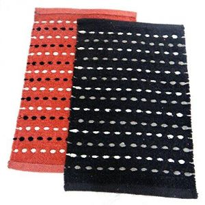 Buy Peponi Multicolor Cotton Hand Woven Door Mat Set Of 2 online