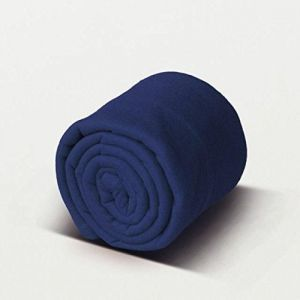Buy Peponi Blue Color Plain Double Fleece Blanket online
