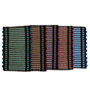 Buy Peponi Multicolour Stripes Cotton Floor Mat Set Of 5 online