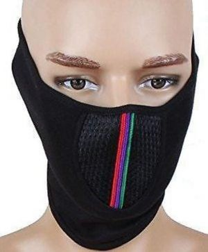 Buy Pollution Mask Half Face Cap For Bike Riding/walk/cycle/traffic Men Woman Black online