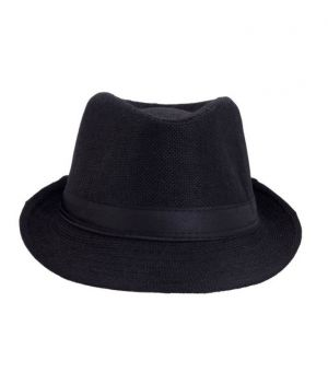 ae2317a0288 Buy Pursho Fedora Hat For Men - Black Online | Best Prices in India ...