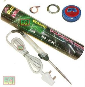 Buy 25w Soldering Iron Kit, Solder Wire, Paste, D Wick online