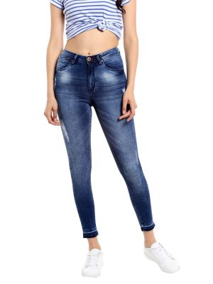 Buy TARAMA Mid Rise Skinny fit Blue color Jeans for women online
