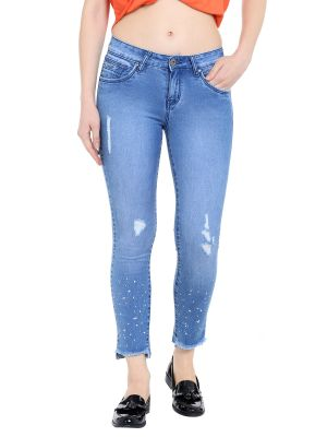 Buy Tarama Low Rise Skinny Fit Light Blue Color Ankle Length Jeans For Women's-a2 Tdb1261 online