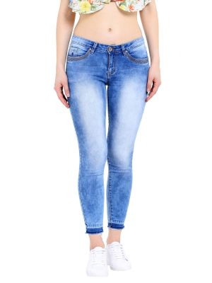 Tarama Low Rise Skinny Fit Blue Color Ankle Length Jeans For Women S Online