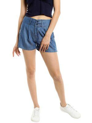 Buy TARAMA Low Rise Regular fit Dark Blue color Mini Shorts for women's online