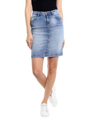Buy TARAMA Low Rise Regular fit Blue color Skirt for women online