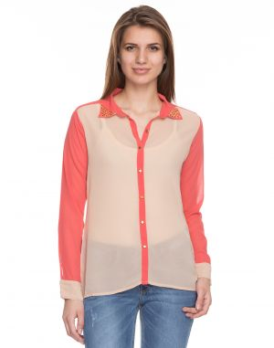 Buy Tarama Beige Color Beige-ggt Fabric Solid Top For Womens (product Code - Tdt1105a) online