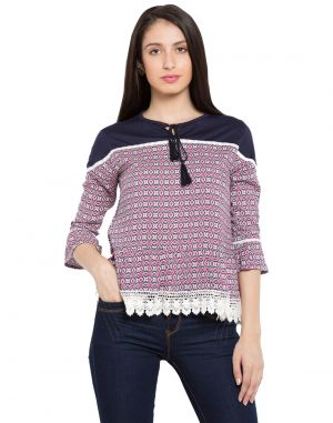 Buy Tarama Multi Color Rayon Fabric Printed Top For Womens (product Code - Tdt1108a) online
