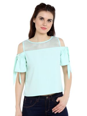 Buy Tarama Crepe Fabric Mint Color Relaxed Fit Top For Women-a2 Tdt1317c online
