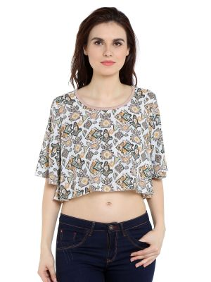 Buy Tarama Rayon Fabric Multicolor Relaxed Fit Top For Women-a2 Tdt1323a online