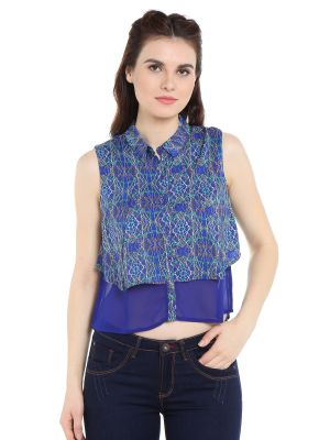 Buy Tarama Georgette Fabric Multicolor Regular Fit Shirt For Women-a2 Tdt1373 online