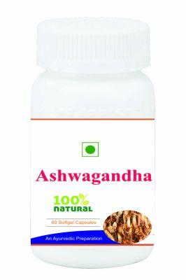 Hawaiian Herbal Ashwagandha Root Extract Softgel Capsule 60 Softgels