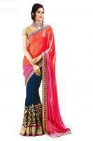 Buy Fabdesire New Fancy2D Bollywood Style Multicolor Saree With Blouse online