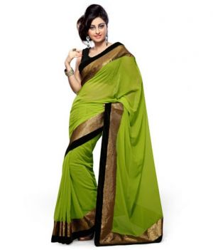 Buy Kalazone Green Faux Georgette Party Wear Saree - (product Code - S11816_s3) online