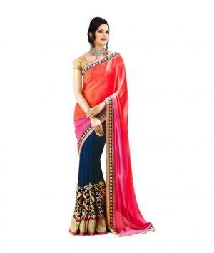 Buy Bhavna Enterprise Multi Bollywood Saree Multisari online