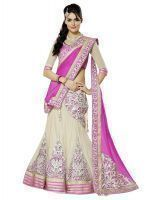Buy Bonitto Stunning Pink Georgette Ghagra Choli Perfect For Wedding Wear online