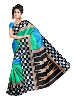 Buy Icon Fashion Multi Color New Bhagalpuri Silk Sarees online