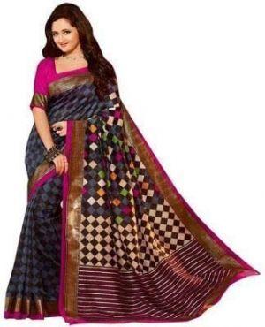 Buy Atoz Fashion Fancy Printed Bhagalpuri Silk Saree-17 online