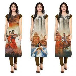 Buy Morpich Fashion Bahubali American Crape Printed Kurti(bahubali123) online