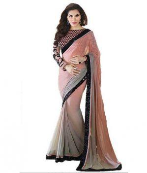 8e14a4c975 Buy Multicolor Chiffon Fabric Exclusive Stylish Saree Online   Best ...