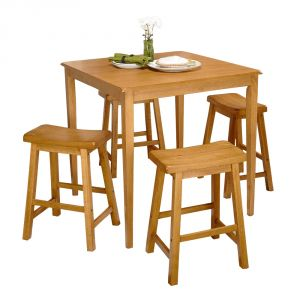 Afydecor Transitional Dining Set With Bar Stools (Product Code)_2422
