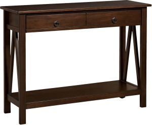 Afydecor Transitional Rectangle Console Table With Two Drawers Having Knobs(Product Code)_3028