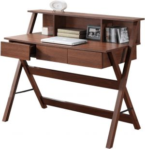 Buy Afydecor Modern Three Drawer Study Table with Criss Cross Legs