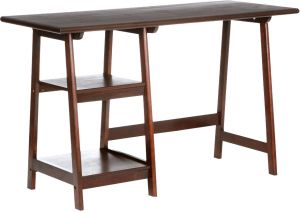 Buy Afydecor Contemporary Study Table with Two Open Storage Shelves online