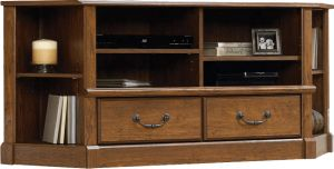 Afydecor Transitional Entertainment Unit With Two Drawers And Metallic Pulls(Product Code)_3145