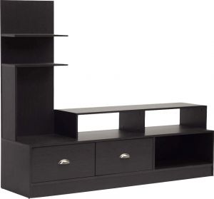 Afydecor Contemporary Entertainment Unit With Vertical Shelf(Product Code)_3160