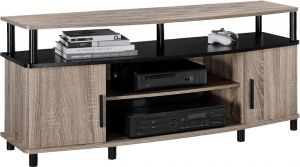 Afydecor Contemporary Entertainment Unit With Two End Cabinets Having Metal Pulls(Product Code)_3168