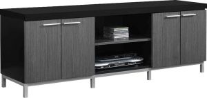 Afydecor Contemporary Two-tone Entertainment Unit With Multi-storage(Product Code)_3186