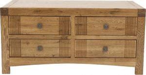Buy Afydecor Transitional Coffee Table with 4 Retractable Drawers having Knobs online