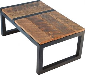 Buy Afydecor Modern Coffee Table with a Rustic Appeal and Sleigh Style Legs online