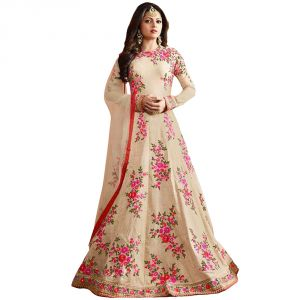 Buy Bollywood Replica Drashti Dhami Beige Anarkali Bollywood Salwar Kameez - (114f4f08dm) online