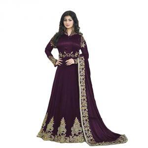 Buy Bollywood Replica Party Wear Aisha Takiya New Colletion Of Purple Anarkali Georgette Suit - (116f4f12dm) online
