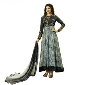 Buy Bollywood Replica Beautiful Prachi Desai Black & Grey Party Wear Designer Anarkali Salwar Kameez - 119f4f04dm online