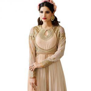 Buy Bollywood Replica Designer Long Peach Georgette Salwar Suit.- 140f4f02dm online